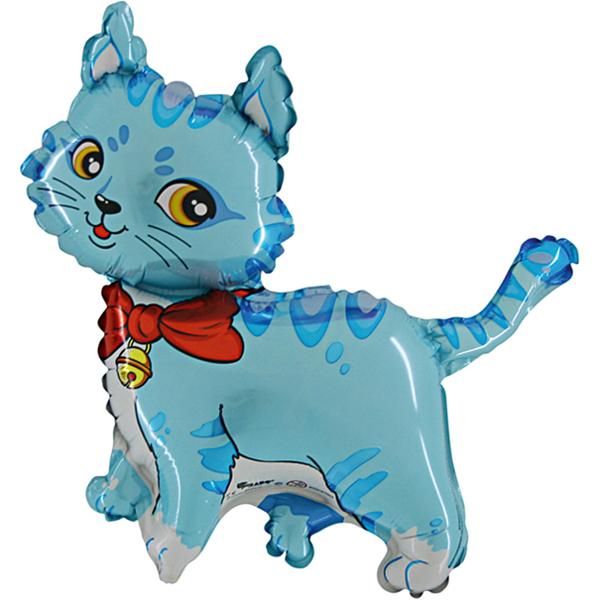 Katze-Blau-Luftballon-aus-Folie-mit-Helium