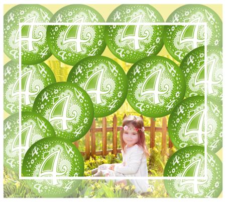 4. Geburtstag Kinder Luftballons